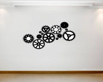 Gears and cogs vinyl wall art, decal or sticker