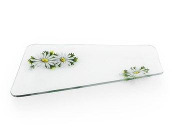 Mid century 1960's glass dressing table trinket dish/vintage homewares Daisy design glass dish Home and living pretty glassware 1960s design
