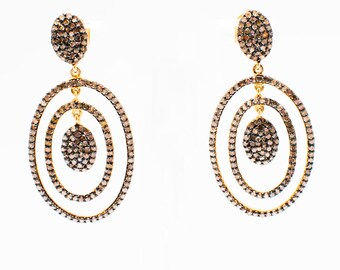 Luna - Handmade Diamond Earrings - Indian Jewellery - Indian Jewelry