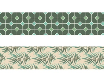 Set of decorative Masking Tape 2 leaves - tape - label Ribbon - Ribbon sticker - 11004619