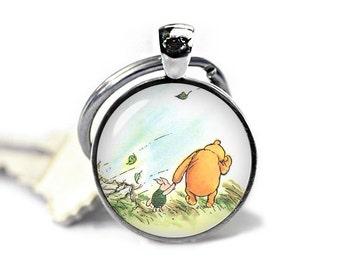 Winnie the Pooh Keychain Winnie Pooh Keyfob Piglet Winnie Pooh Keyring