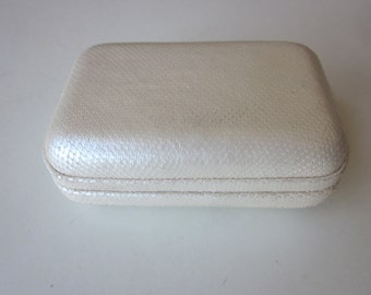 Vintage White Snake Skin Jamin Puech Clutch Purse