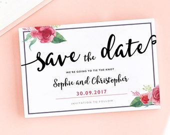 Rose Mellanie Save the Date/Wedding Announcement Cards