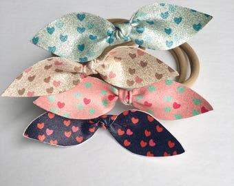 Headband for baby Nylon with a shiny heart buckle