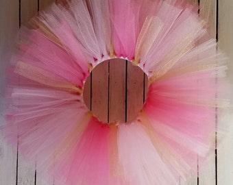 Pink and Gold Tutu Skirt