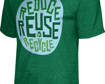 ProSphere Men's Recycle Reduce and Reuse Causes Heather Tech Tee