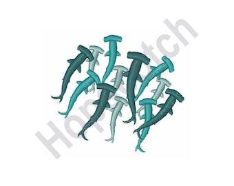 Hammer Head Shark- Machine Embroidery Design