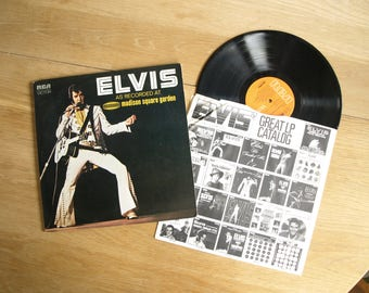 "Elvis Presley ""As Recorded At Madison Square Garden"" 1972 RCA Record Album"