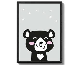 Bear - art print unframed family gift family fine art print