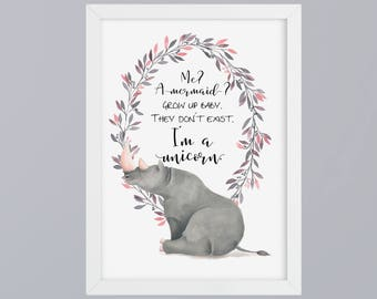 I am a unicorn - unframed art print