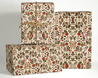 18th Century French Textile Wrapping Paper; Christmas Gift Wrapping; Christmas Wrapping Paper; Gift Wrapping; Vintage Gift Wrapping; Gift