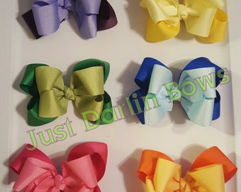 Double Stacked Boutique Bows, 4 inch, 5 inch, 6 inch, Big southern bows