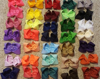 "Bow Sale, 3"", 4"", 5"" Boutique Grosgrain Hair Bows"