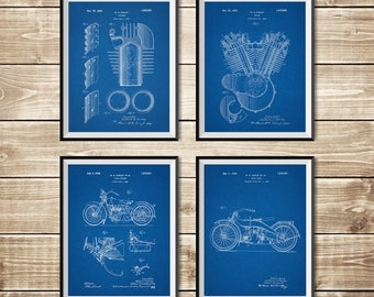 Harley Printable, Patent Print Group, Model JD Patent, Harley Wall Print, Harley Art Print, Harley Wall Decor, Harley Art, INSTANT DOWNLOAD