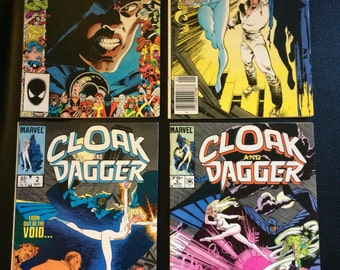Four Marvel Cloak and Dagger Comic Books 1985 1986 Vol 2 Nos. 2, 4, 5, and 9