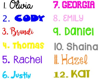 Customized Name Decal, Vinyl, Yeti/Rtic Cup Decal/ Laptop Decal/ Car Decal, Name decal, Initial, Letter decal, Personalized