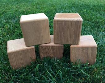 5 premium blank cedar yard dice for Yardzee