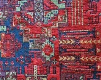 FedEx!!!by the 5 Meters,Yard,Chenille,Jacquard, Ethnic,Tribal ,Turkish,Ottoman Chenille Upholstery Fabric, Velvet Fabric,Kilim Fabric