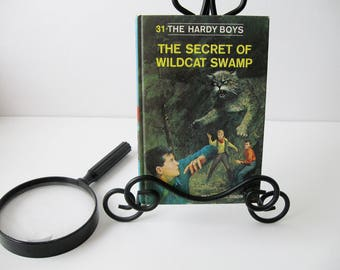 Hardy Boys Book #31, Vintage Hardy Boys Books The Secret of Wildcat Swamp by Franklin W. Dixon, Mystery Books For Teens 1960s, Book Decor