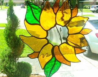 Golden Sunflower Suncatcher