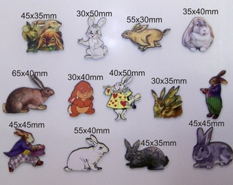Rabbits and Hares. This listing is for 12x wood cutouts