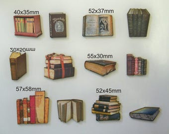 Books With Vintage Look. A X pack of 12 cuts