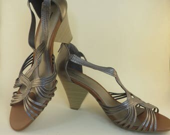 Size 11 Wide Low Heel Open Toe Shoes