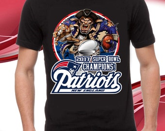 New England Patriots, 2017 Superbowl Champions, T-shirt