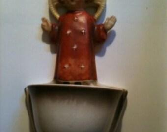 MJ HUMMEL - Ceramics holy water font...