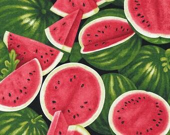 "Fruit Fabric, watermelon Fabric: NEW Fabri-Quilt Farmer John's Garden Party Watermelon  100% cotton fabric by the yard 36""x43"" (FQ111)"