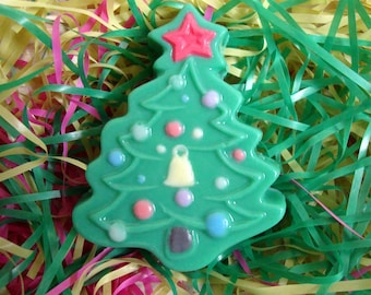 SOLD! Hand made soap- Christmas Tree, with  women brand perfume oil