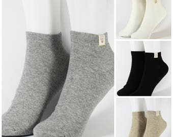 Men's Low Cut Casual Mixed Cotton Socks 4 Pairs