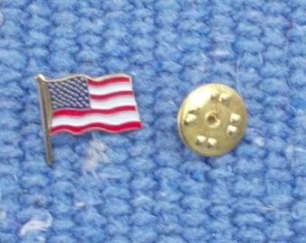 American flag cloisonne lapel pin (3 per order)