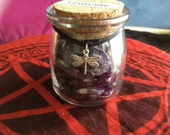 Amethyst Crystal Jar