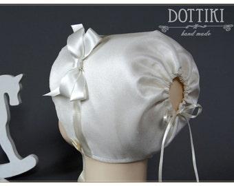 Baby Bonnet, Children Bonnet, Silk Bonnet, Baby Hat, Baby Cap, Baby Girl Bonnet, Flower Girl Bonnet, Girl Bonnet, Newborn Bonnet