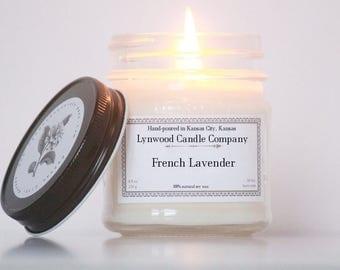 French Lavender Soy Candle // Mason Jar Candle// Natural Candle // Candle Gift // Scented Candle // Lavender Candle // Bath Candle