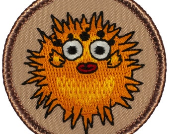 Puffer Fish Patch (733) 2 Inch Diameter Embroidered Patch