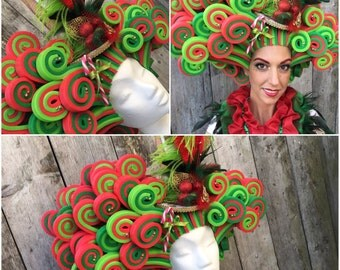 SALE!! Lady donna christmas foam wig