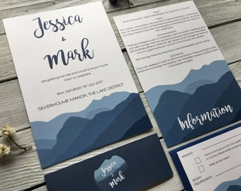 Langdale Wedding Invitation Set - Sample Only