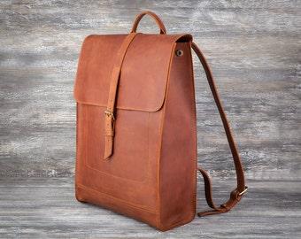 Brown backpack college backpack school leather backpack men backpack woman backpack travel backpack roomy backpack city backpack rucksack