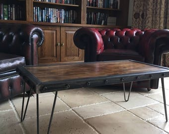 Industrial coffee table / coffee table / vintage industrial  / FREE UK DELIVERY