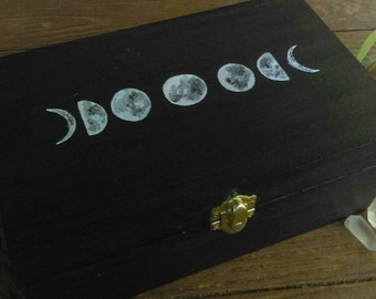 Moon Box | Stash Box | Moon Phases Jewelry Box | Herb Box | Witch Box | Potion Box | Crystal Box | Phases of the Moon