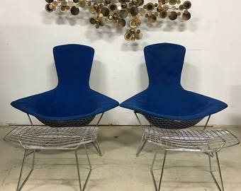 2 Bertoia for Knoll Bird Chairs & Ottomans