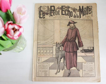 Vintage French Fashion Magazine - 1920's - Le Petit Echo de La Mode - 5th February 1922