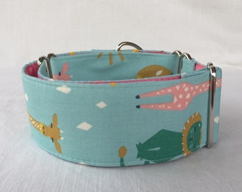 Cute Africanimals Martingale Dog Collar
