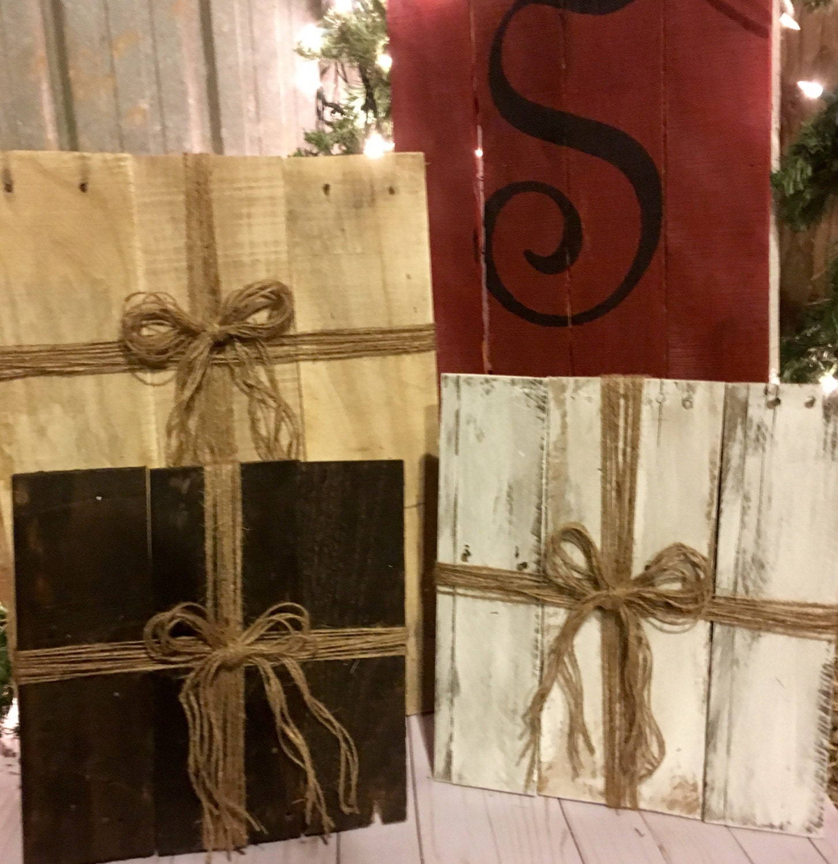 Wood Christmas Presents Christmas Outdoor Decor Pallet
