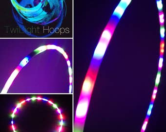 Twi-Light multicoloured LED hoop - 5/8 inch tubing with 50 LEDS