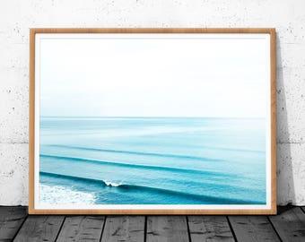Ocean Photography, Digital Print, Blue Wall Art, Minimalist Art, Ocean Wall Art , Minimalist Landscapes, Sea Water Print, Printable Poster