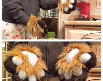 Fursuit Two Tone Non Foam Dog/Cat Paws