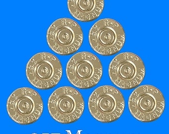 357 Magnum Bullet Slices. Machine Cut & Polished For Your DIY Jewelry! Lot of 10.